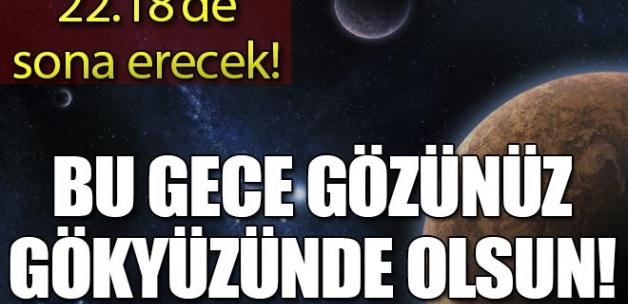 Kısmi ay tutulması Türkiye'den de izlenebilecek