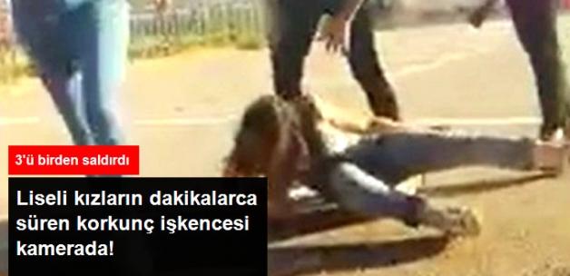 Liseli Kızlardan Korkunç İşkence! Tekme Attılar Yetmedi, Saçlarından Tutup Yerde Sürüklediler