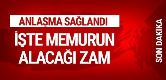 Memur zammı belli oldu 2018-2019 toplu sözleşme zam oranı