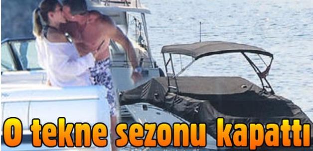 Murat Başoğlu'nun öpüşürken görüntülendiği tekne sezonu kapattı
