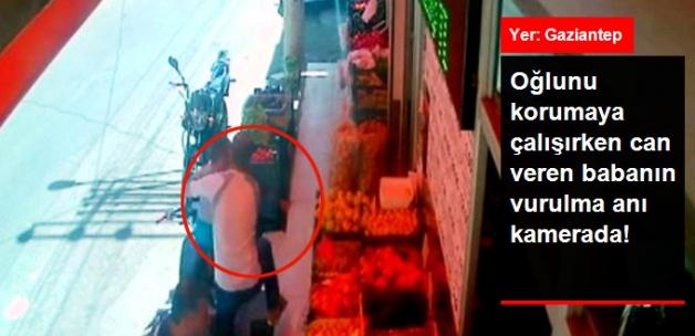 Oğlunu Korumaya Çalışırken Can Verdi! Babanın Vurulduğu Anlar Güvenlik Kamerasında!
