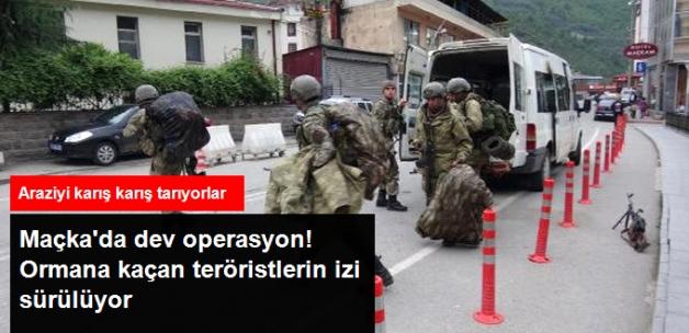 Trabzon'da Dev Operasyon! Ormanlık Alana Kaçan Teröristler İzi Sürülüyor