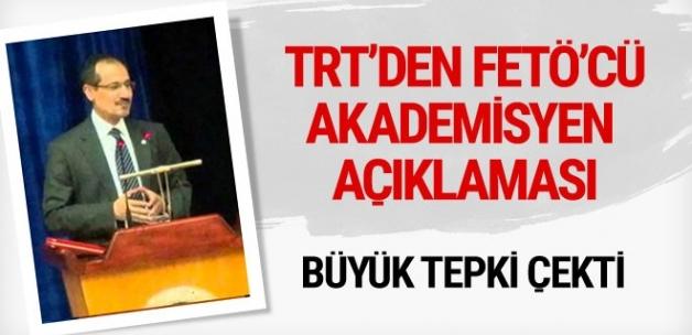 TRT'den 'FETÖ'cü akademisyen' açıklaması