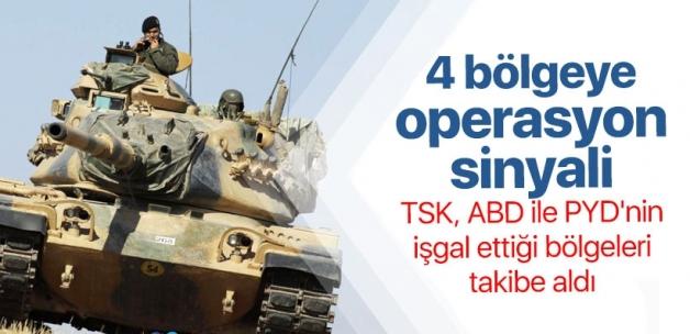 TSK'dan sınır ötesi 4 bölgeye operasyon sinyali