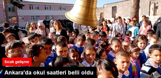 Ankara'da Okul Saatleri Belli Oldu: Tam Gün 07.50, Diğerleri 08.30