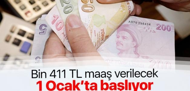 Bağ-Kur'luya bin 411 TL maaş