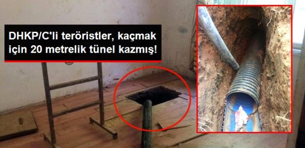 DHKP/C'li Teröristler, Kaçmak için 20 Metrelik Tünel Kazmış!