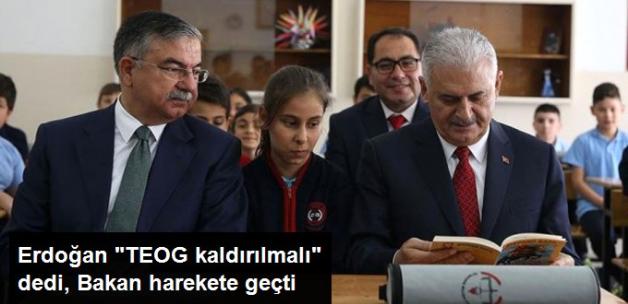 Erdoğan'ın Sözleri Sonrası Bakan'dan Başbakan'a TEOG Raporu