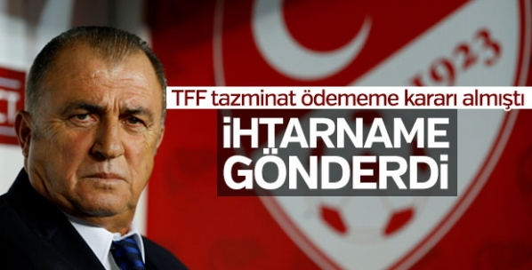Fatih Terim'den TFF'ye ihtarname