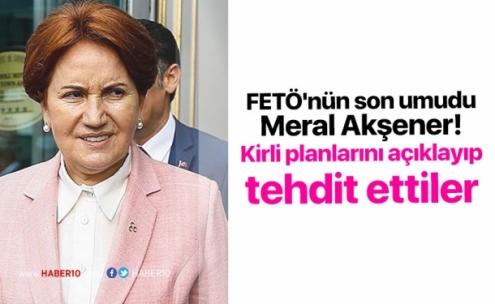 FETÖ'nün son umudu Meral Akşener