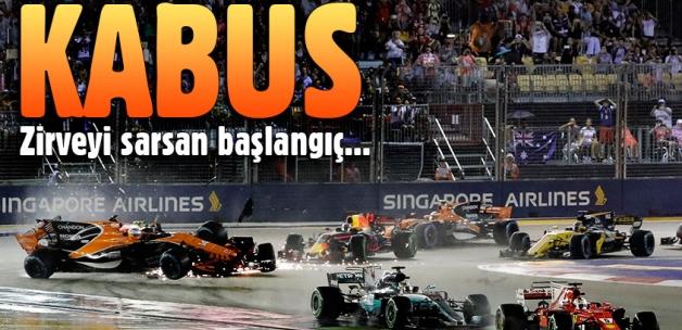 Formula 1 Singapor'da inanılmaz kaza!