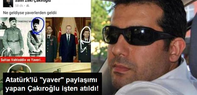 """Kocaeli Belediyesi, Atatürk'lü """"Yaver"""" Paylaşımı Tepki Toplayan Çalışanını Kovdu"""