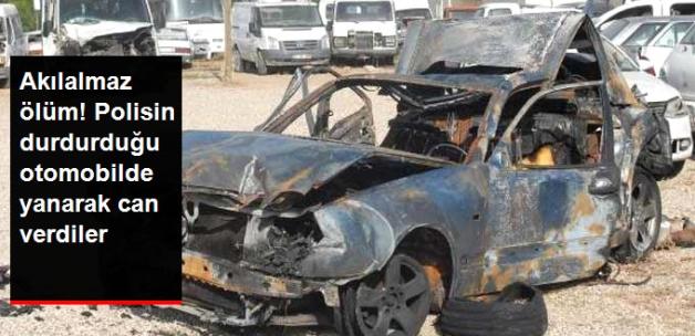 Polisin Durdurduğu Otomobile Minibüs Çarptı, 2 Kişi Yanarak Can Verdi