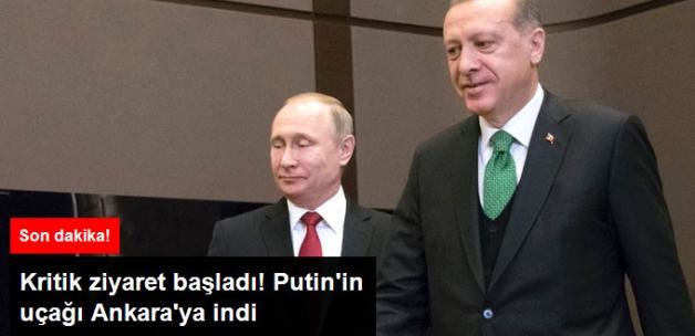 Rusya Devlet Başkanı Putin'in Uçağı Ankara'ya İndi