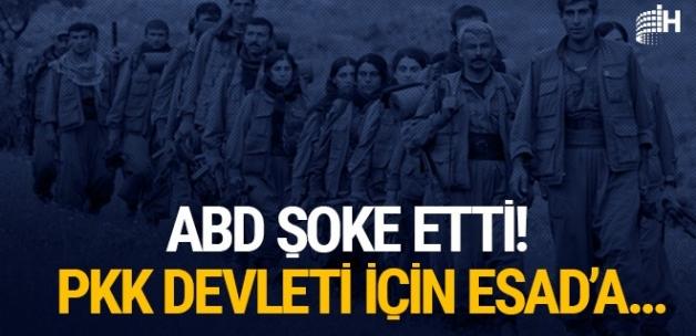 ABD'den şok plan! PKK devleti için Esad'a..