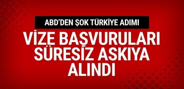 ABD'den Türkiye'ye şok vize kararı