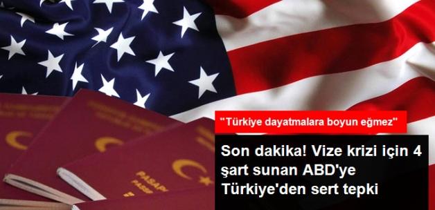 Bakan Çavuşoğlu, Vize Krizi İçin 4 Şart Sunan ABD'ye Sert Çıktı: Türkiye Dayatmalara Boyun Eğmez