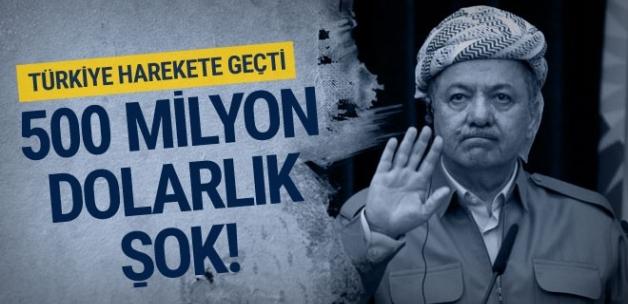 Barzani'ye 500 milyon dolarlık şok!