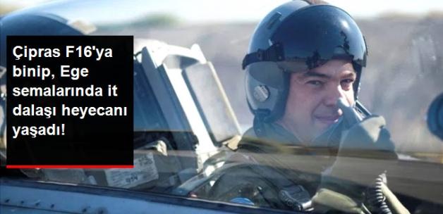Çipras F16'ya Binip Ege'de İt Dalaşı Heyecanı Yaşadı