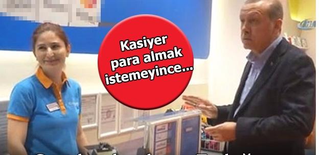 Cumhurbaşkanı Erdoğan, torunu için alışveriş yaptı