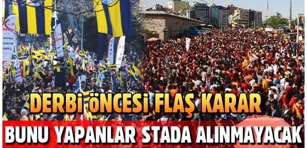 Galatasaray-Fenerbahçe derbisi öncesi bir ilk