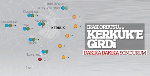 Irak Ordusu Kerkük'e operasyon başlattı