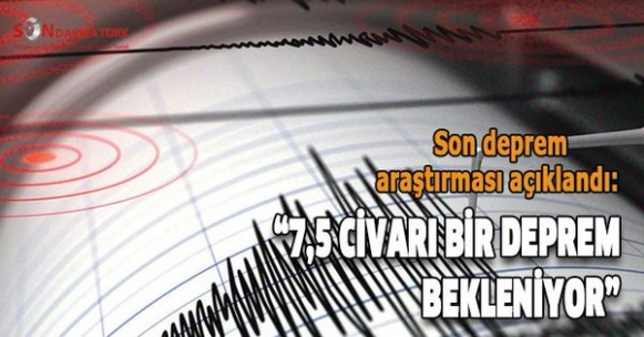 """Marmara için deprem uyarısı! """"7 Büyüklüğünde Deprem bekliyoruz"""""""