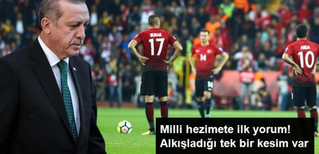 Milli Takım'ın Hezimetine Erdoğan'dan İlk Yorum: Seyirciyi Alkışlıyorum