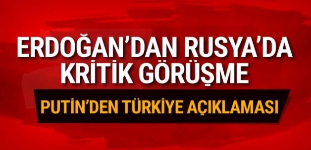 Erdoğan Rusya'da! Kritik görüşme başladı