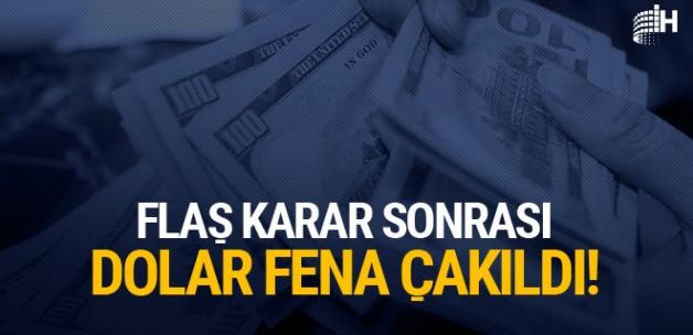 Flaş kararın ardından dolar çakıldı