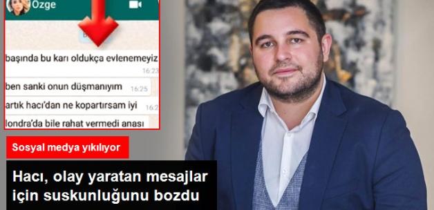 Hacı Sabancı, Özge Ulusoy'a Ait Olduğu İddia Edilen Mesajları