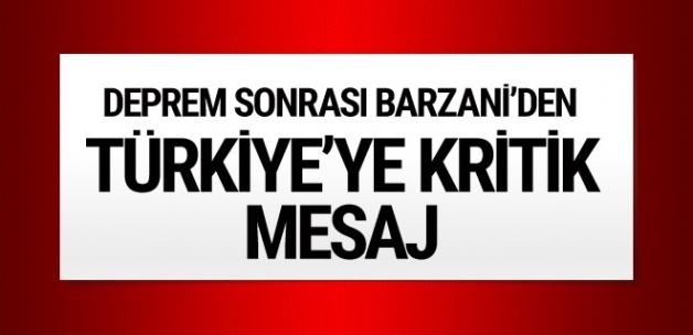 Neçirvan Barzani'den Türkiye'ye teşekkür!
