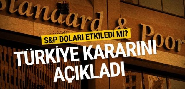 S&P'den Türkiye için kredi notu açıklaması