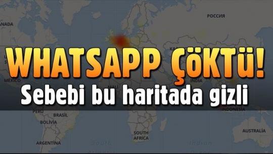 Whatsapp'a erişim sağlanamadı (Whatsapp çöktü mü?)