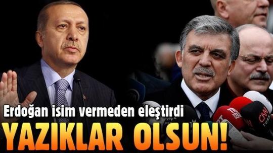 Cumhurbaşkanı Erdoğan'dan 11. Cumhurbaşkanı Abdullah Gül ve Bülent Arınç'a sert KHK eleştirisi