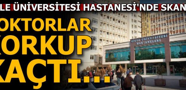 Dicle Üniversitesi Hastanesi'nde skandal olay!