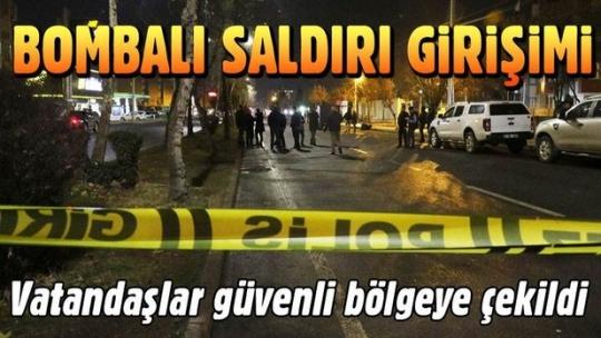 Diyarbakır'da hükümet konağının bulunduğu bölgeye el bombası atıldı