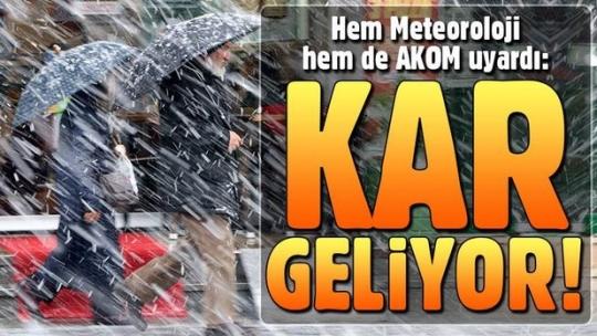Meteoroloji saat verdi: Kar geliyor (İstanbul hava durumu)