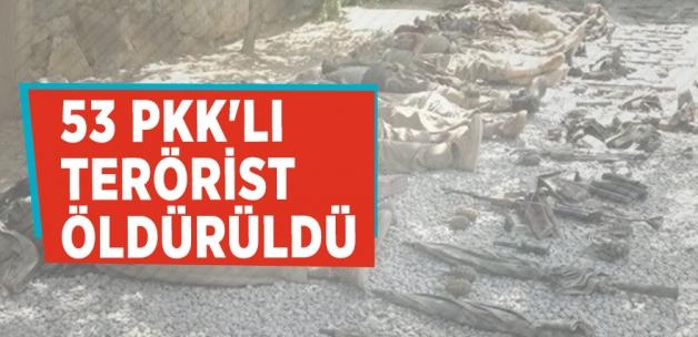 TSK: 53 PKK'lı terörist öldürüldü Kaynak: TSK: 53 PKK'lı terörist öldürüldü