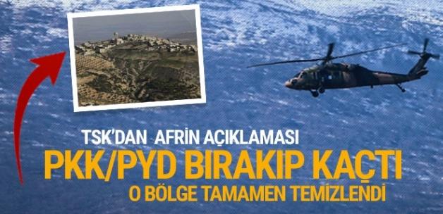 Afrin'de Alkana köyü terörden arındırıldı