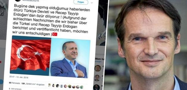 Alman Der Spiegel hacklendi: Erdoğan'dan özür diliyoruz