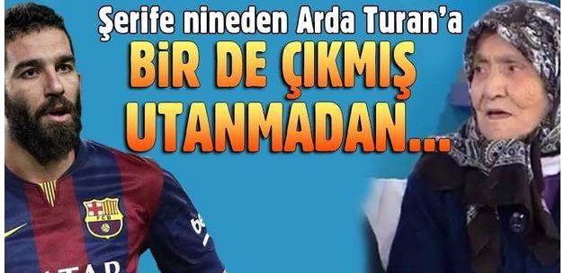 Arda Turan'a Şerife Nine canlı yayında sitem etti