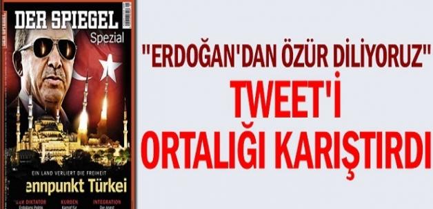 """""""Erdoğan'dan özür diliyoruz"""" tweeti ortalığı karıştırdı"""