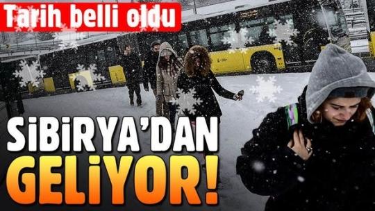 İstanbul'a Sibirya üzerinden soğuk hava ve kar yağışı geliyor (İstanbul'a kar ne zaman gelecek?