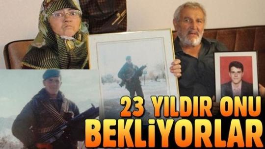 Terör örgütü PKK tarafından kaçırılan askerin ailesi 23 yıldır oğullarını bekliyor