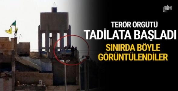 Terör örgütü sınırda tadilata başladı!