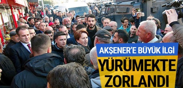Tunceli'de İYİ Parti Lideri Meral Akşener'e yoğun ilgi