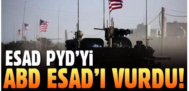 Esad PYD'yi ABD Esad'ı vurdu