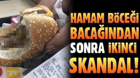 Hamburgerin içinden kurt çıktı