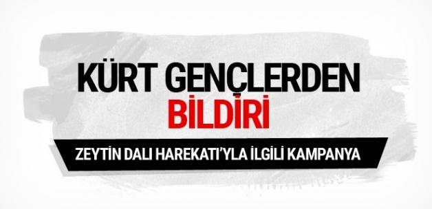 Kürt gençlerden Zeytin Dalı Harekatı'na destek bildirisi